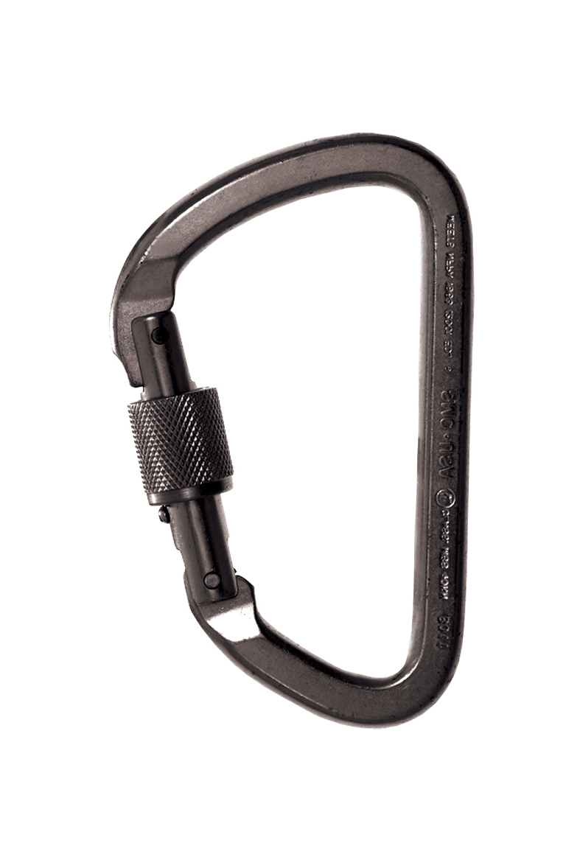 3x 28KN Professional Locking D Carabiner Sicherheitsausrüstung